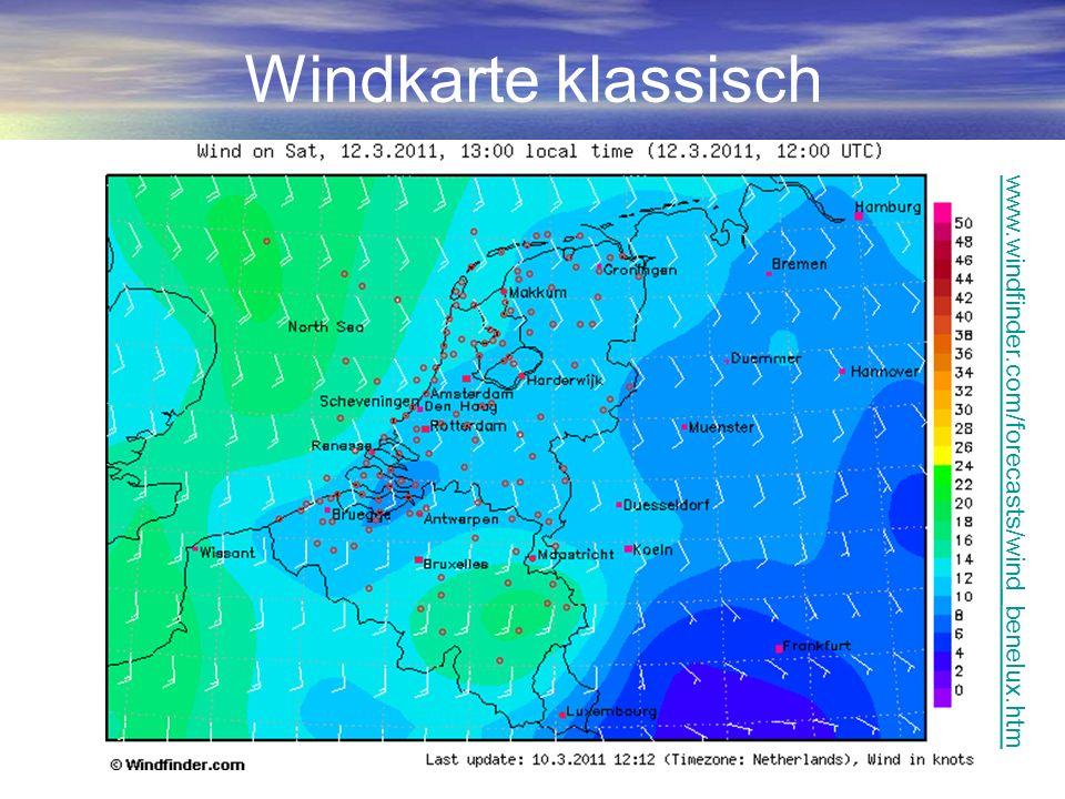 Flugwetter Schnellanalyse Wetterkarte: Isobaren zyklonal / antizyklonal.