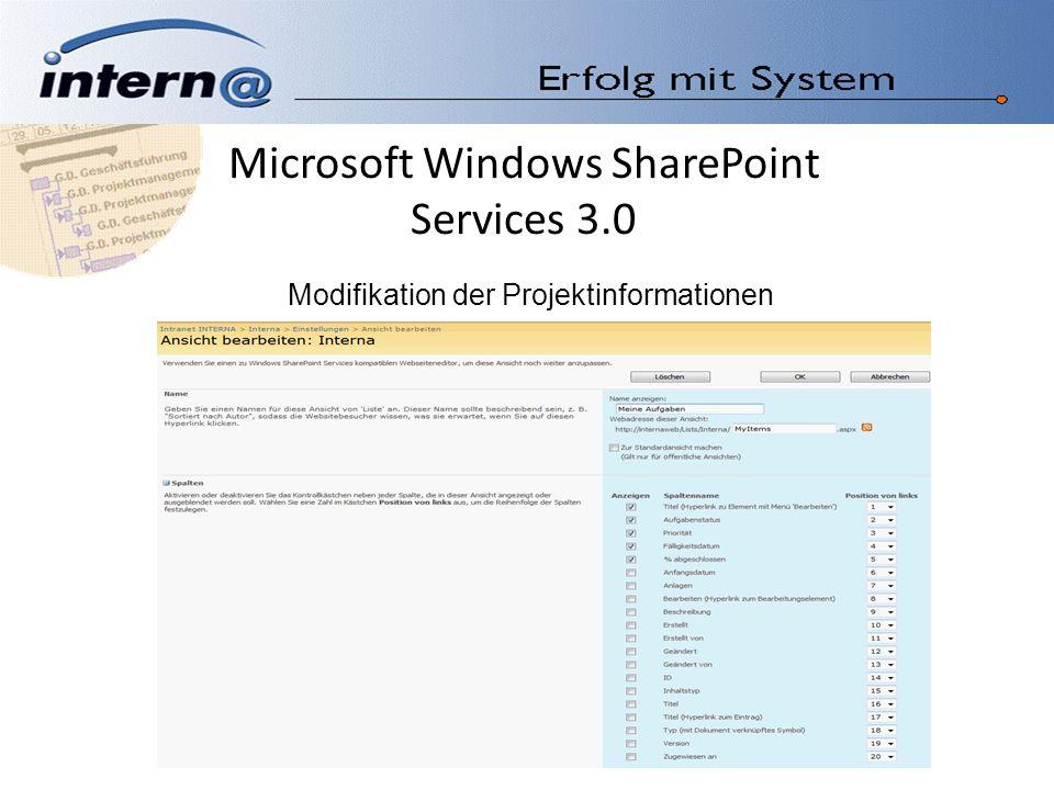 Microsoft Windows SharePoint Services 3.0 Kalenderdarstellung