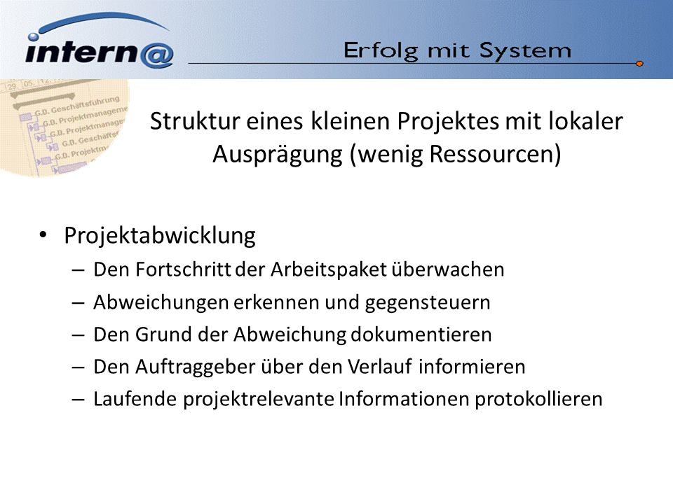 Business Contact Manager 2007 Projektpool