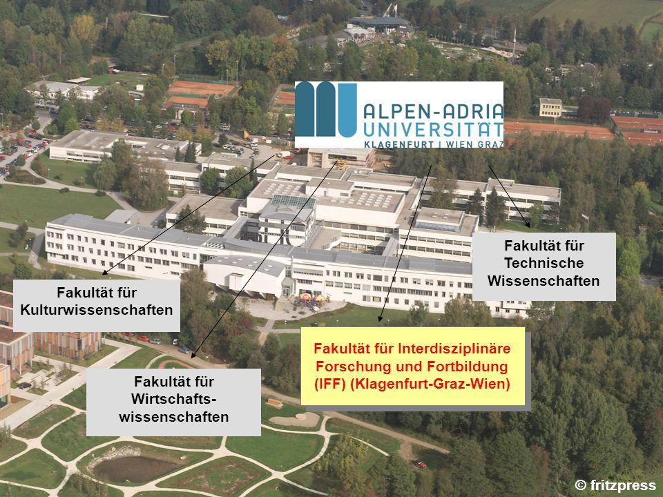 Fakultät für Kulturwissenschaften Fakultät für Wirtschafts- wissenschaften Fakultät für Interdisziplinäre Forschung und Fortbildung (IFF) (Klagenfurt-