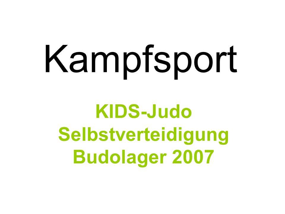 Kampfsport KIDS-Judo Selbstverteidigung Budolager 2007