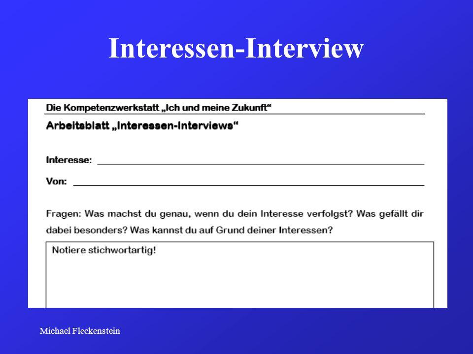 Michael Fleckenstein Interessen-Interview
