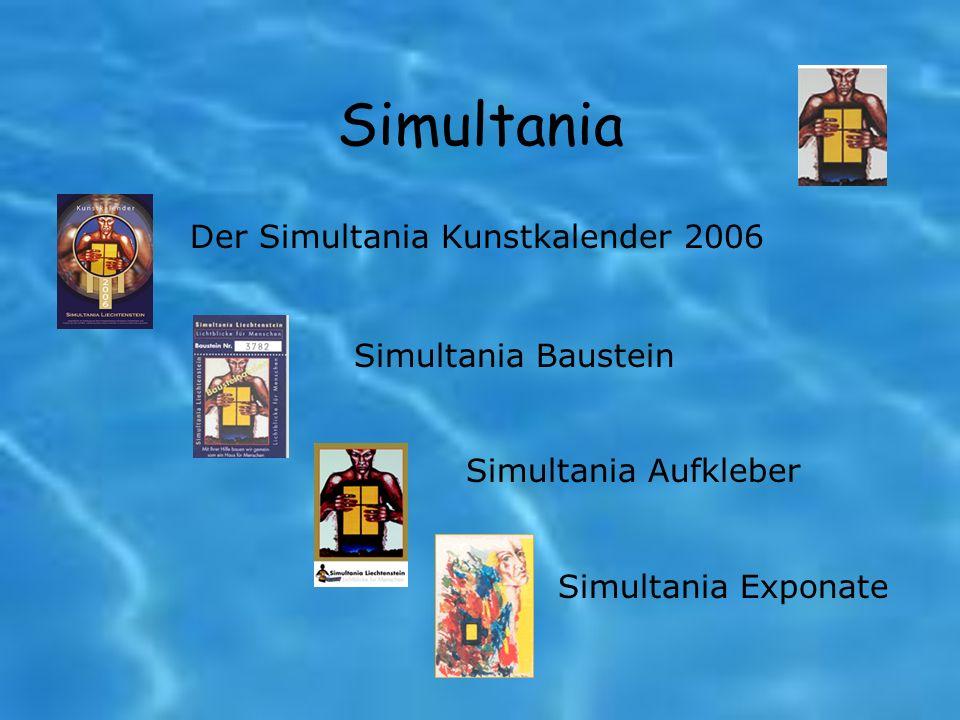 Simultania Der Simultania Kunstkalender 2006 Simultania Baustein Simultania Aufkleber Simultania Exponate