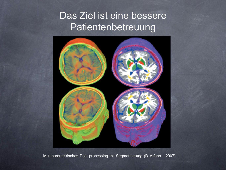 Das Ziel ist eine bessere Patientenbetreuung Multiparametrisches Post-processing mit Segmentierung (B. Alfano – 2007)