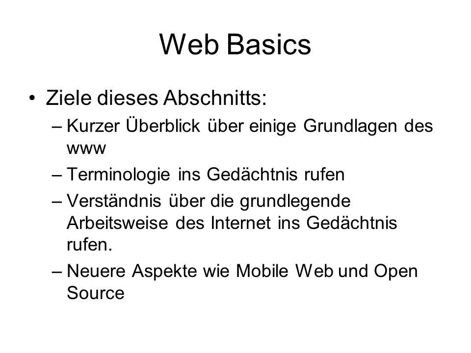 Überblick Basics Categories of Web Based Systems XML Development of Web Based Systems –UP und dessen Anpassung und Ergänzung –WISDM, SSM –Requiremets & DesignTechniken, Patterns Web Services,.NET Framework Datenanbindung, PHP Selected Topics – Navigation, Usability Students topics