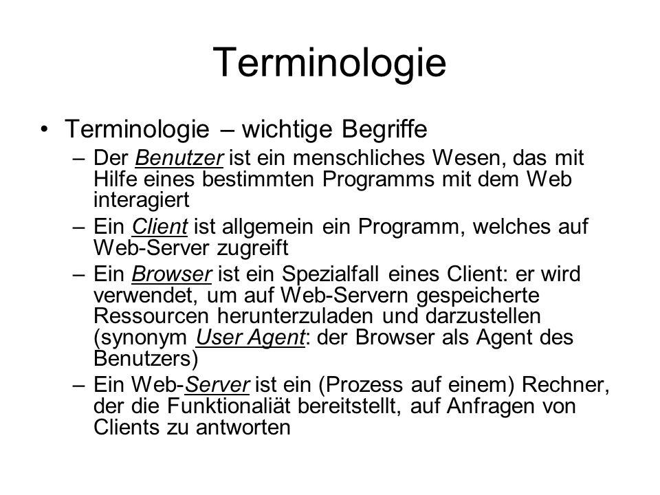 Terminologie Internet World Wide Web .