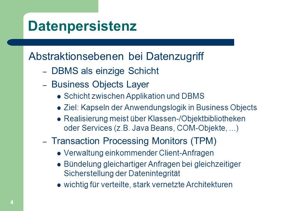 5 Web-Applikation mit Datenanbindung Datenbankanbindung in einer serverseitigen Web-Applikation Ablauf einer Webseitenabfrage 3.