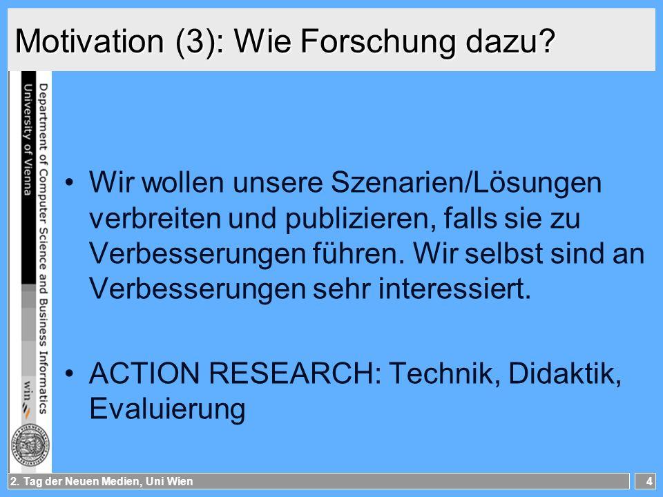 2.Tag der Neuen Medien, Uni Wien5 Überblick WAS.