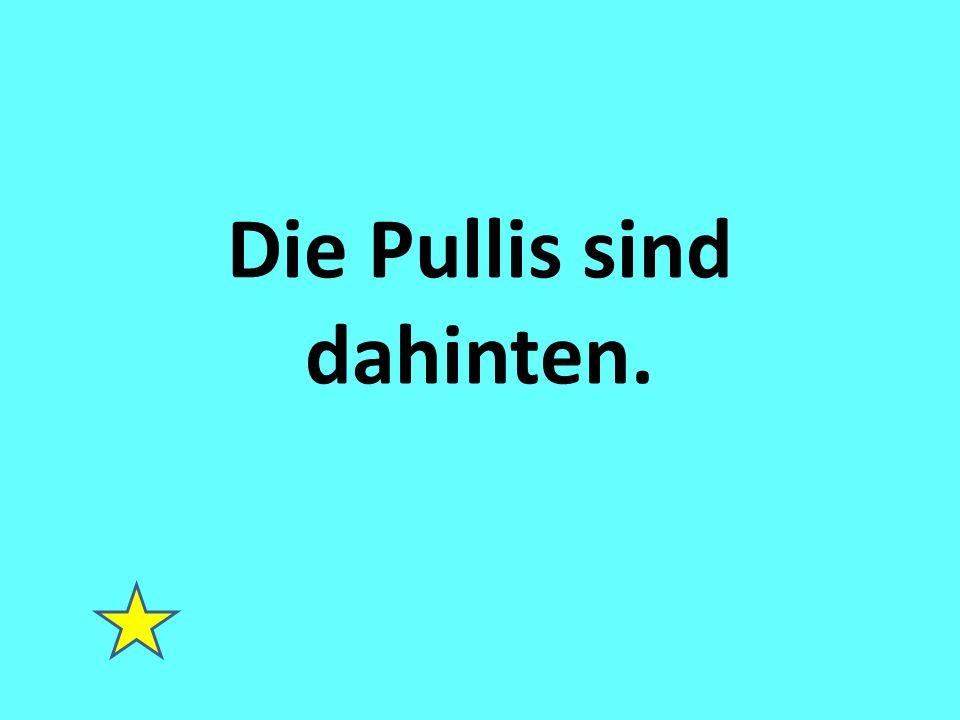 Die Pullis sind dahinten.