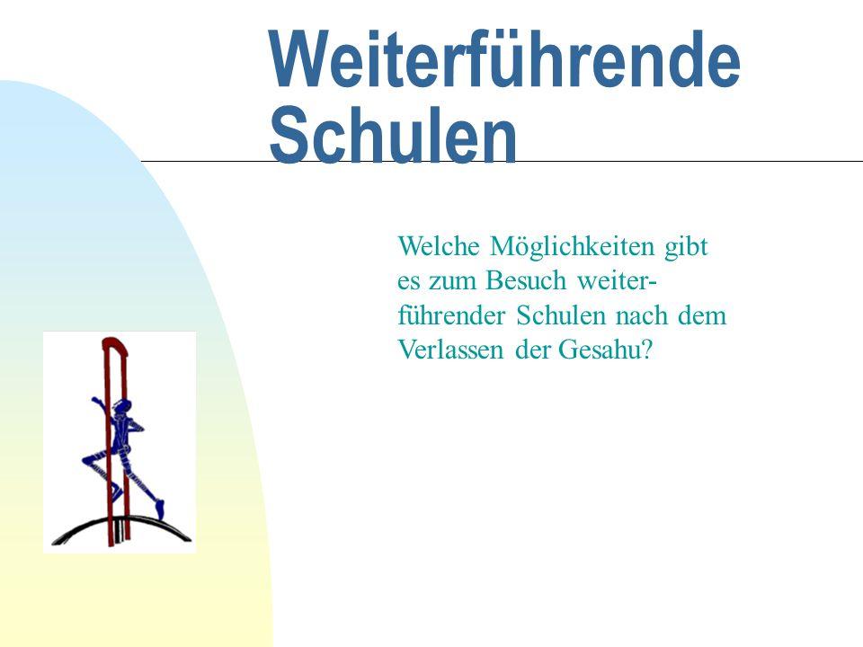 Gesamtschule Hungen Informationsveranstaltung für die Eltern der Schüler und Schülerinnen der Jahrgangsstufe 9 am 16.9.02