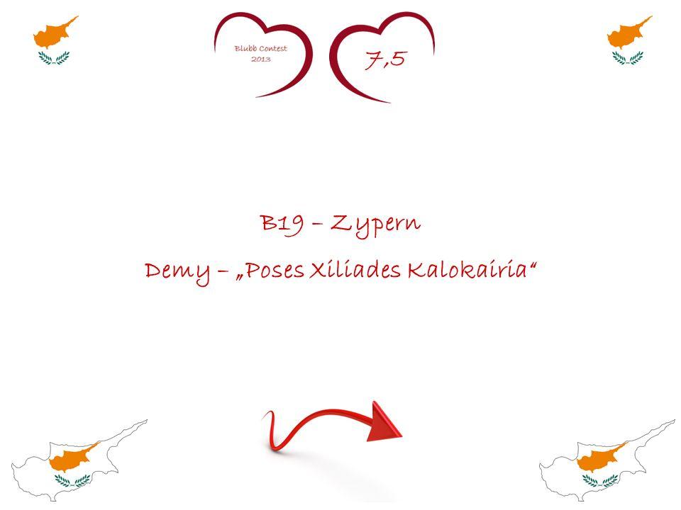 7,5 B19 – Zypern Demy – Poses Xiliades Kalokairia