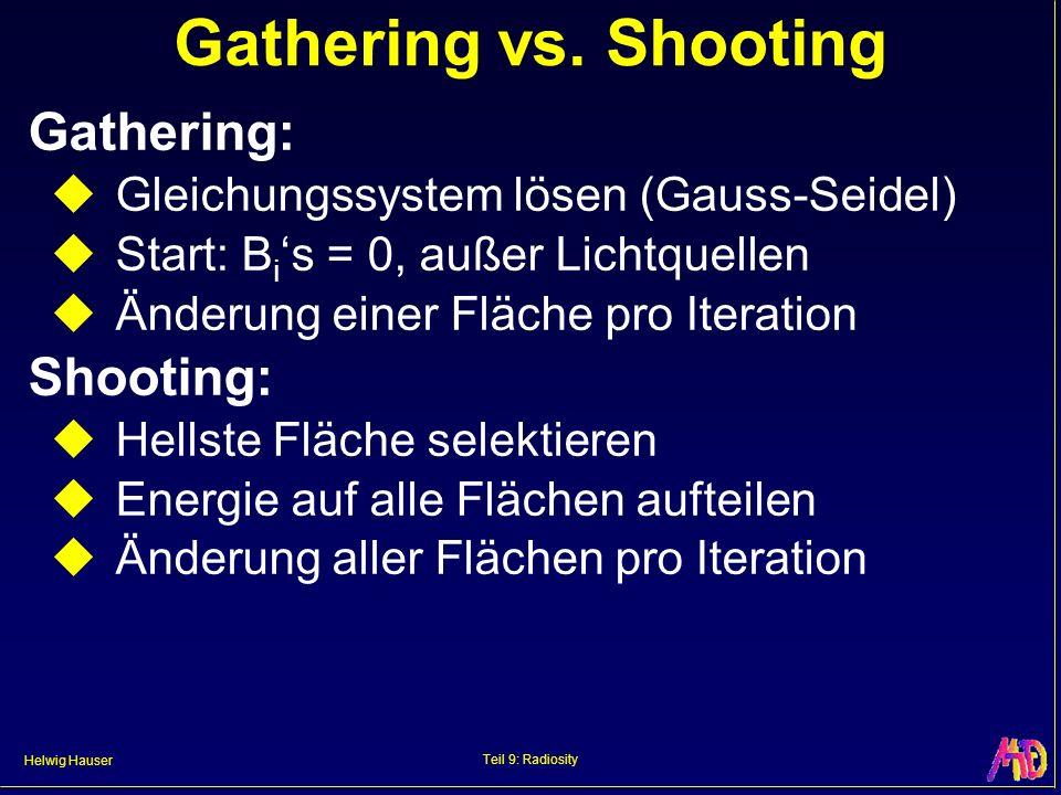 Helwig Hauser Teil 9: Radiosity Gathering vs.