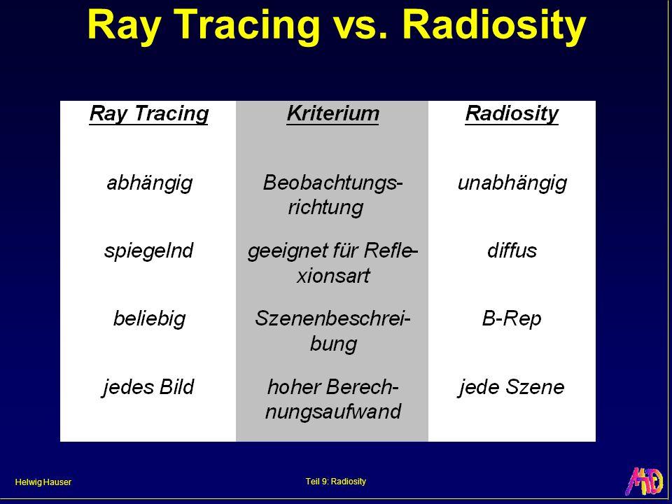 Helwig Hauser Teil 9: Radiosity Ray Tracing / Radiosity RT Rad