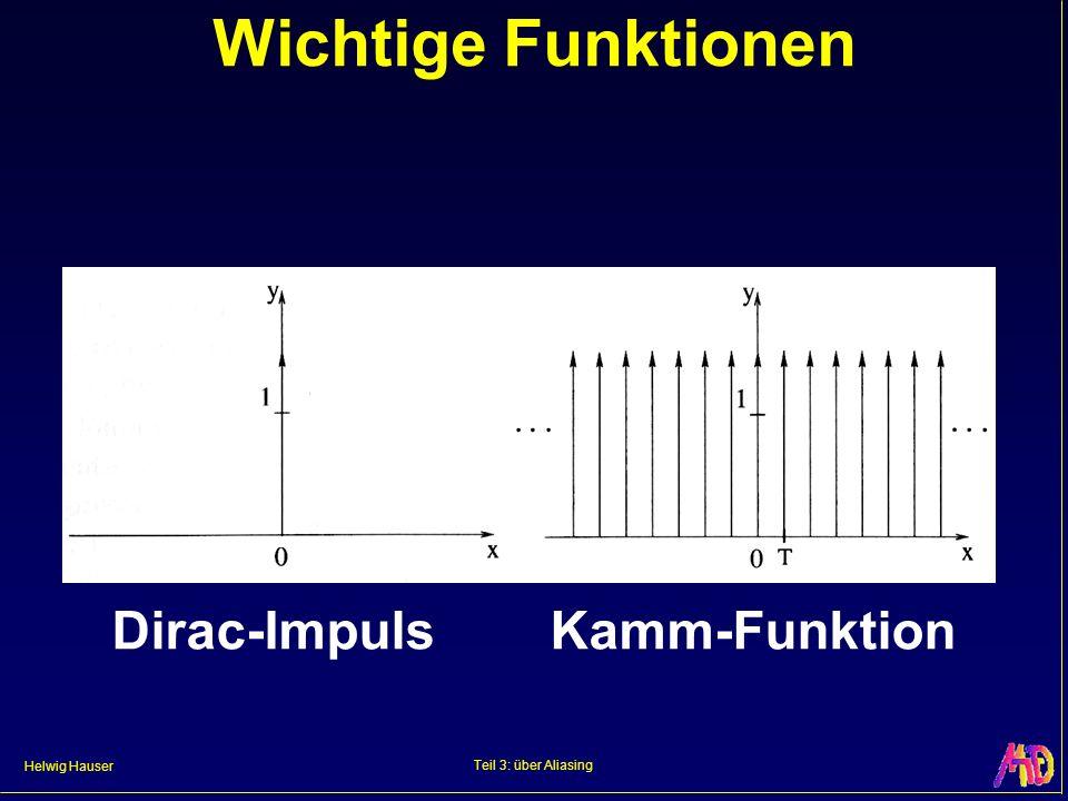 Helwig Hauser Teil 3: über Aliasing Wichtige Funktionen Dirac-ImpulsKamm-Funktion