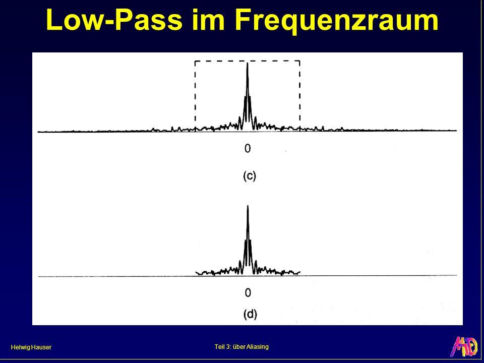 Helwig Hauser Teil 3: über Aliasing Low-Pass im Frequenzraum