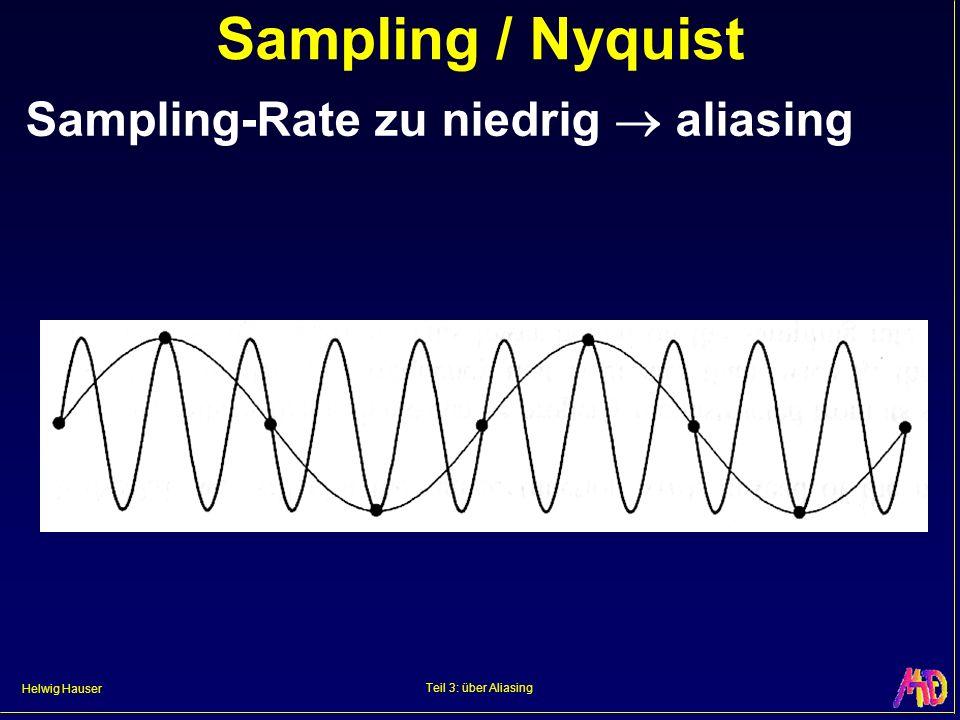 Helwig Hauser Teil 3: über Aliasing Sampling / Nyquist Sampling-Rate zu niedrig aliasing