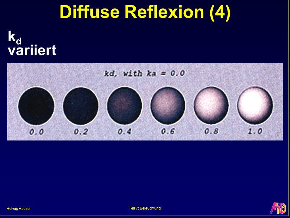 Helwig Hauser Teil 7: Beleuchtung Diffuse Reflexion (4) k d variiert