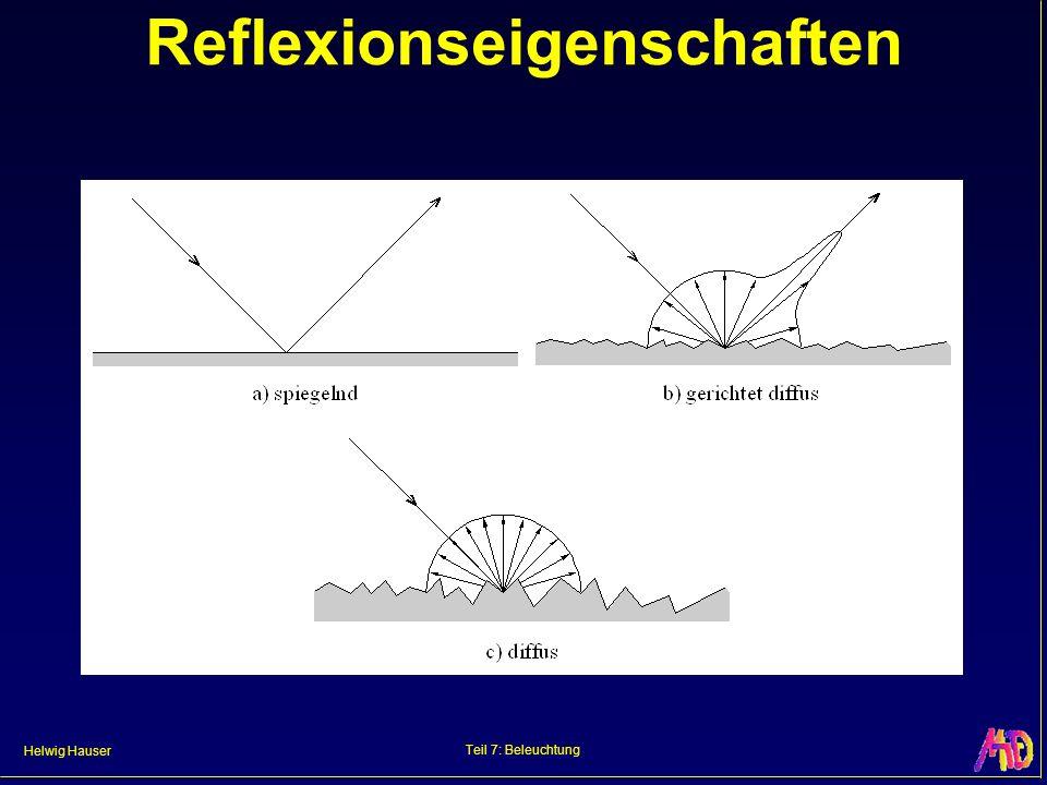 Helwig Hauser Teil 7: Beleuchtung Reflexionseigenschaften