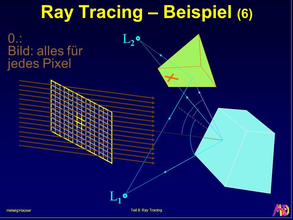 Helwig Hauser Teil 8: Ray Tracing Ray Tracing – Beispiel (6) L2L2 L1L1 0.: Bild: alles für jedes Pixel