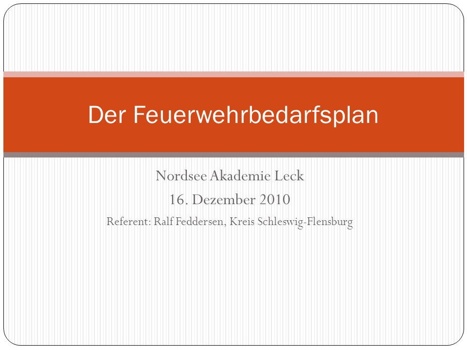 Nordsee Akademie Leck 16.