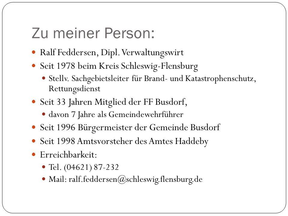 Zu meiner Person: Ralf Feddersen, Dipl.