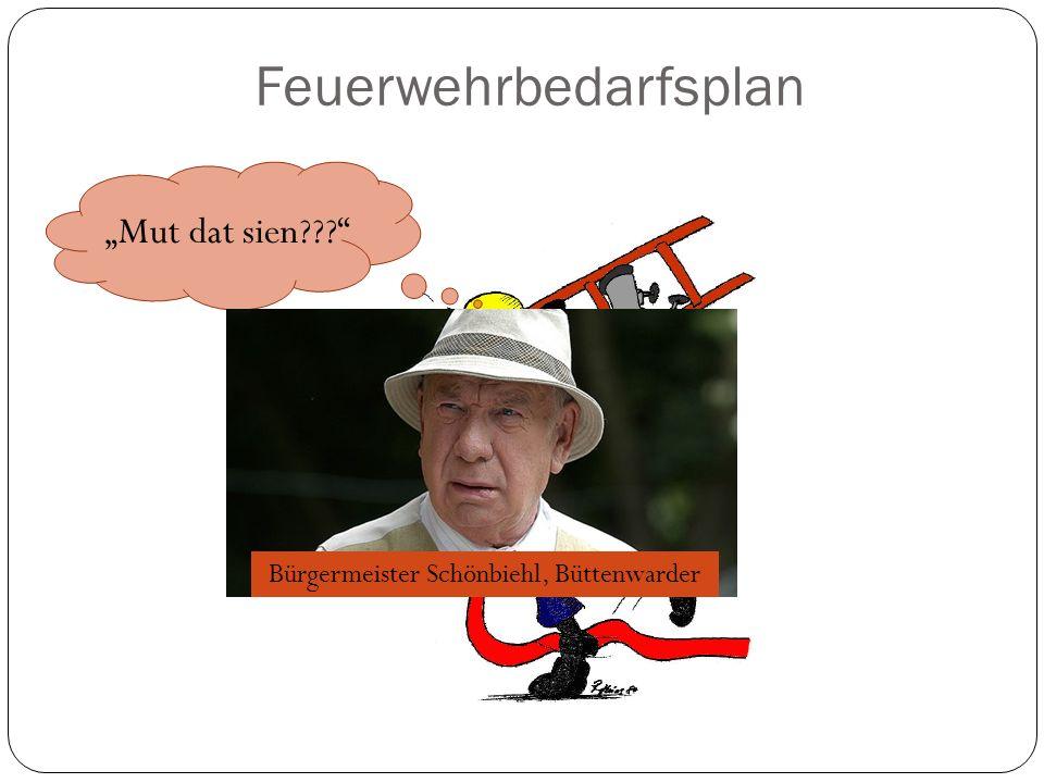 Feuerwehrbedarfsplan Mut dat sien??? Bürgermeister Schönbiehl, Büttenwarder