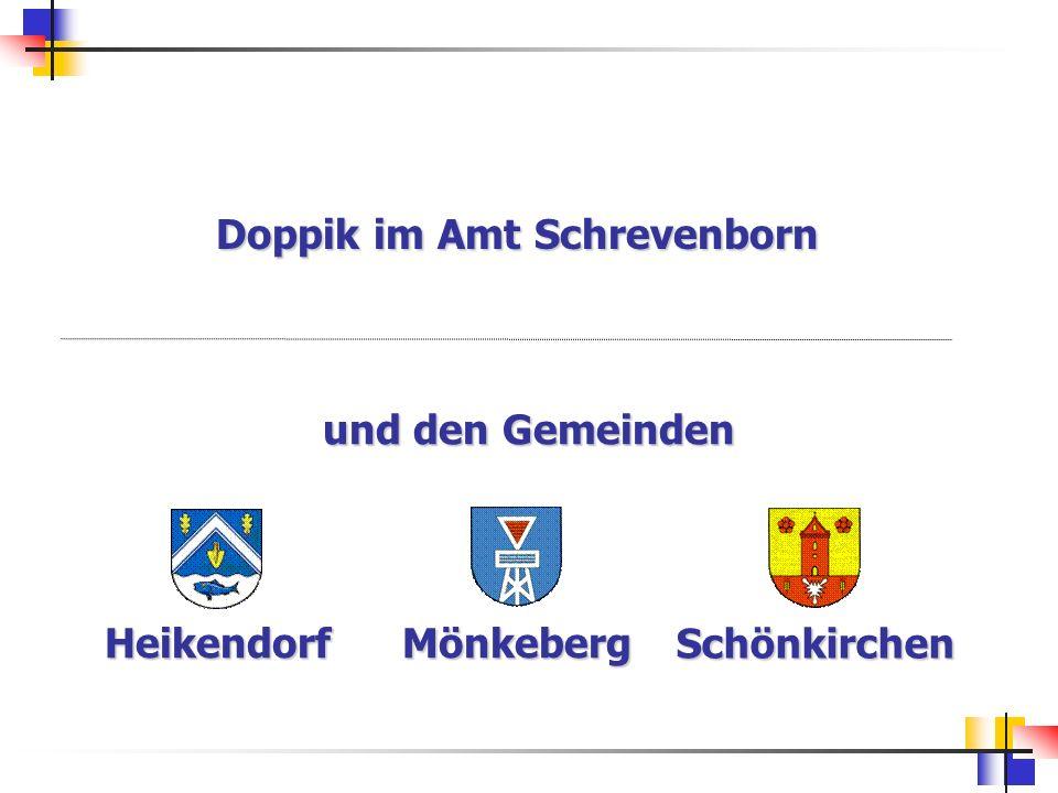 Doppik im Amt Schrevenborn und den Gemeinden HeikendorfMönkeberg Schönkirchen
