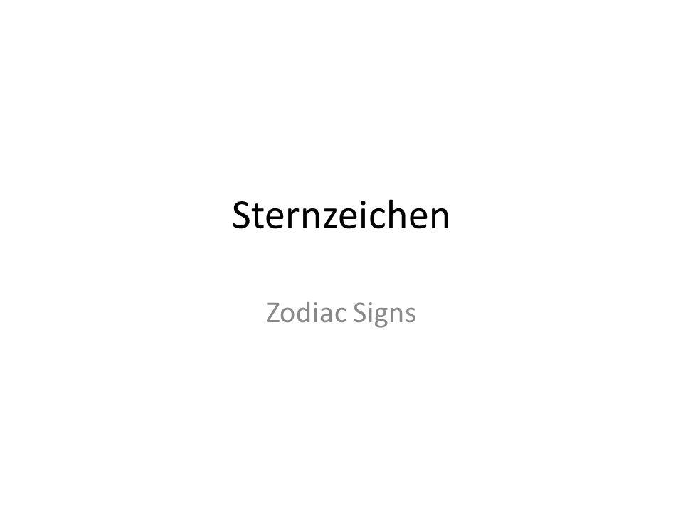 Sternzeichen Zodiac Signs