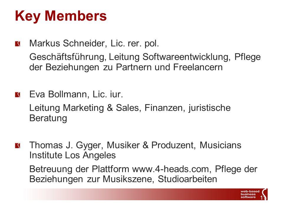 11 Key Members Markus Schneider, Lic. rer. pol.