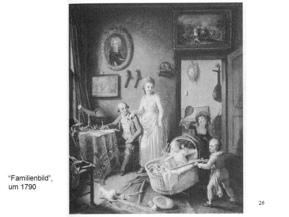 26 Familienbild, um 1790