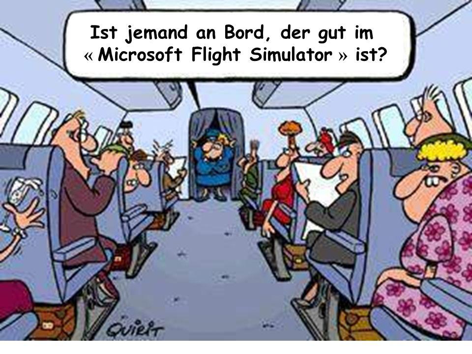 Ist jemand an Bord, der gut im « Microsoft Flight Simulator » ist?
