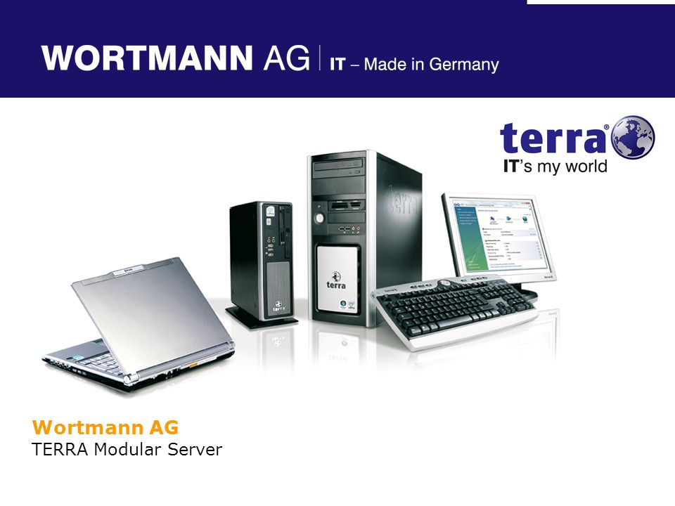 Referent Wortmann AG TERRA Modular Server