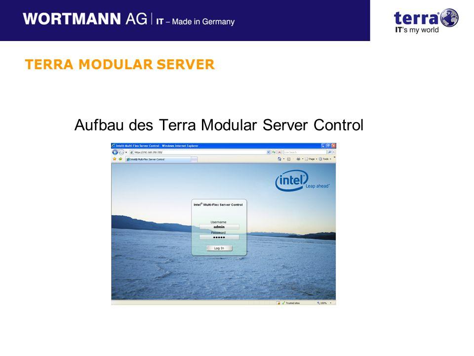 Aufbau des Terra Modular Server Control TERRA MODULAR SERVER