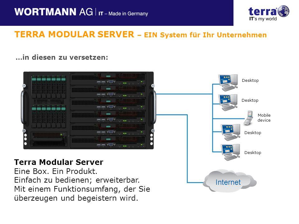 Terra Modular Server Eine Box.Ein Produkt. Einfach zu bedienen; erweiterbar.