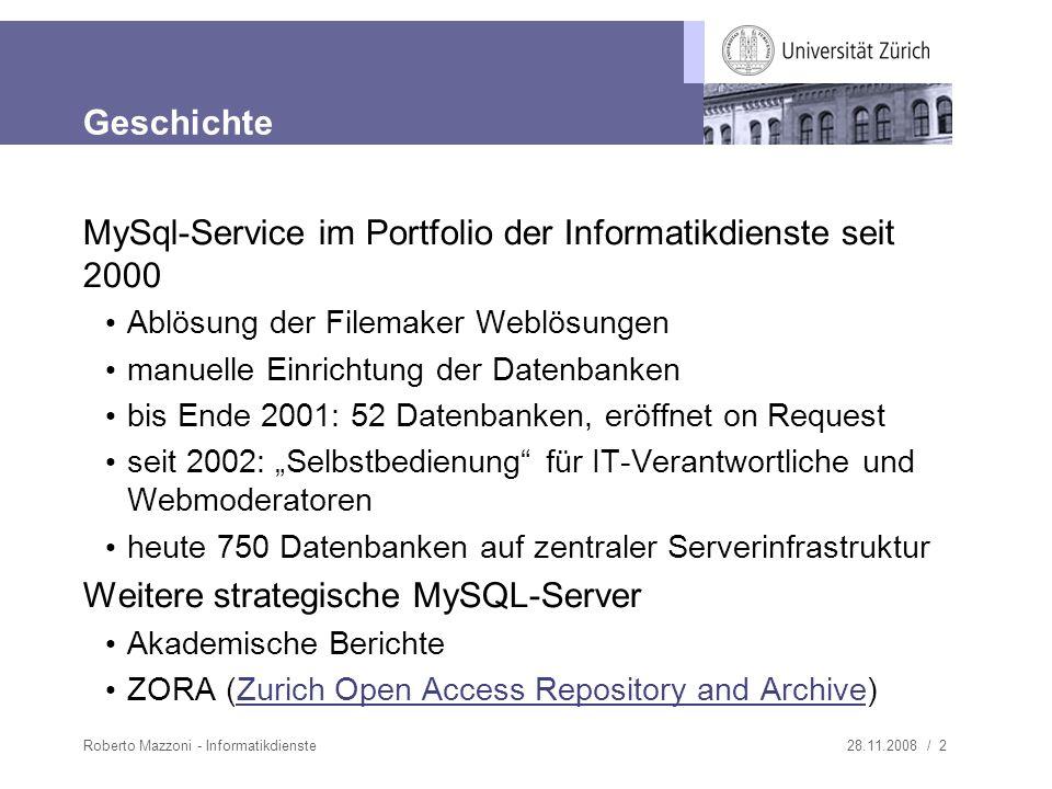 28.11.2008 / 3Roberto Mazzoni - Informatikdienste Antrag und Passworte