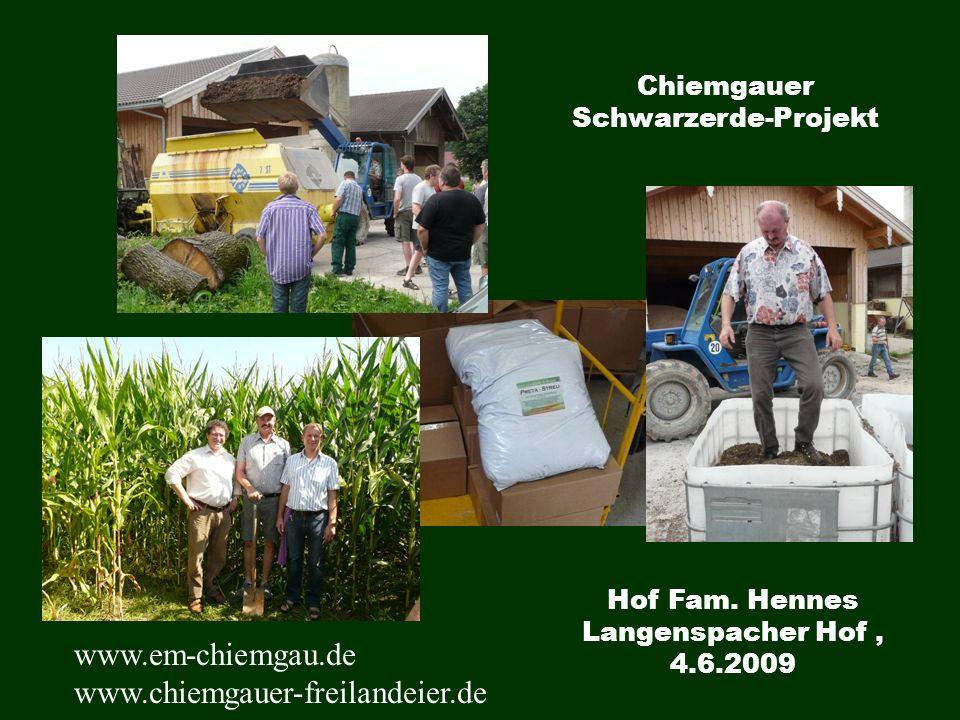 Hof Fam. Hennes Langenspacher Hof, 4.6.2009 Chiemgauer Schwarzerde-Projekt www.em-chiemgau.de www.chiemgauer-freilandeier.de
