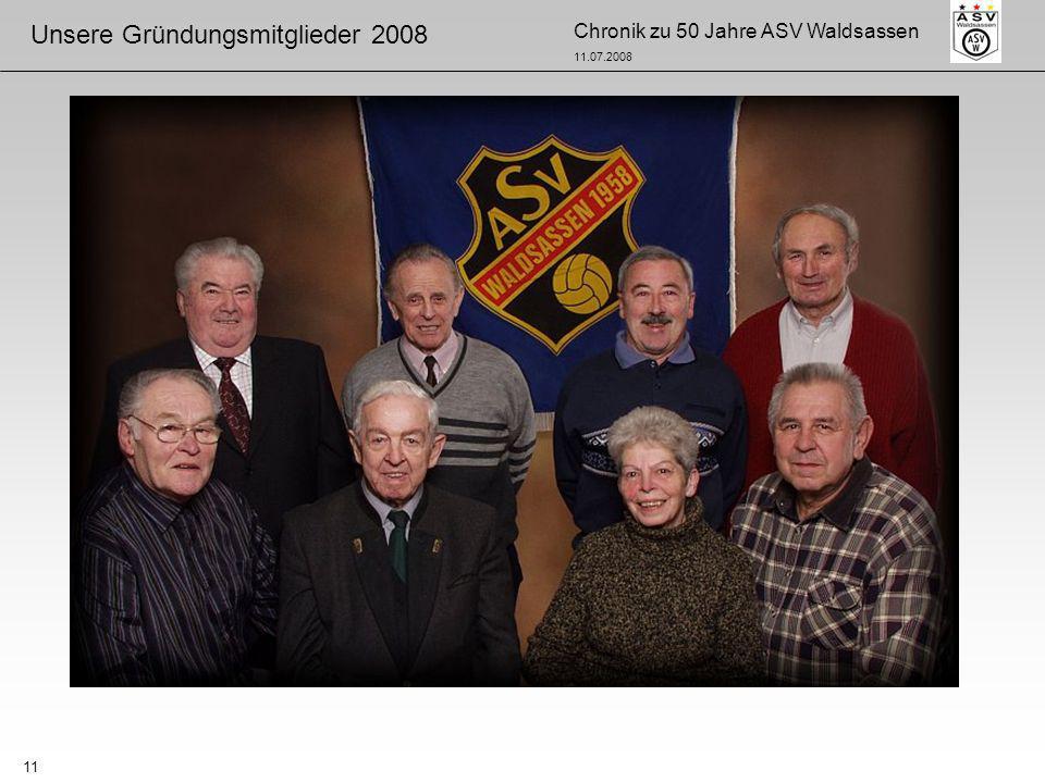 Chronik zu 50 Jahre ASV Waldsassen 11.07.2008 11 Unsere Gründungsmitglieder 2008