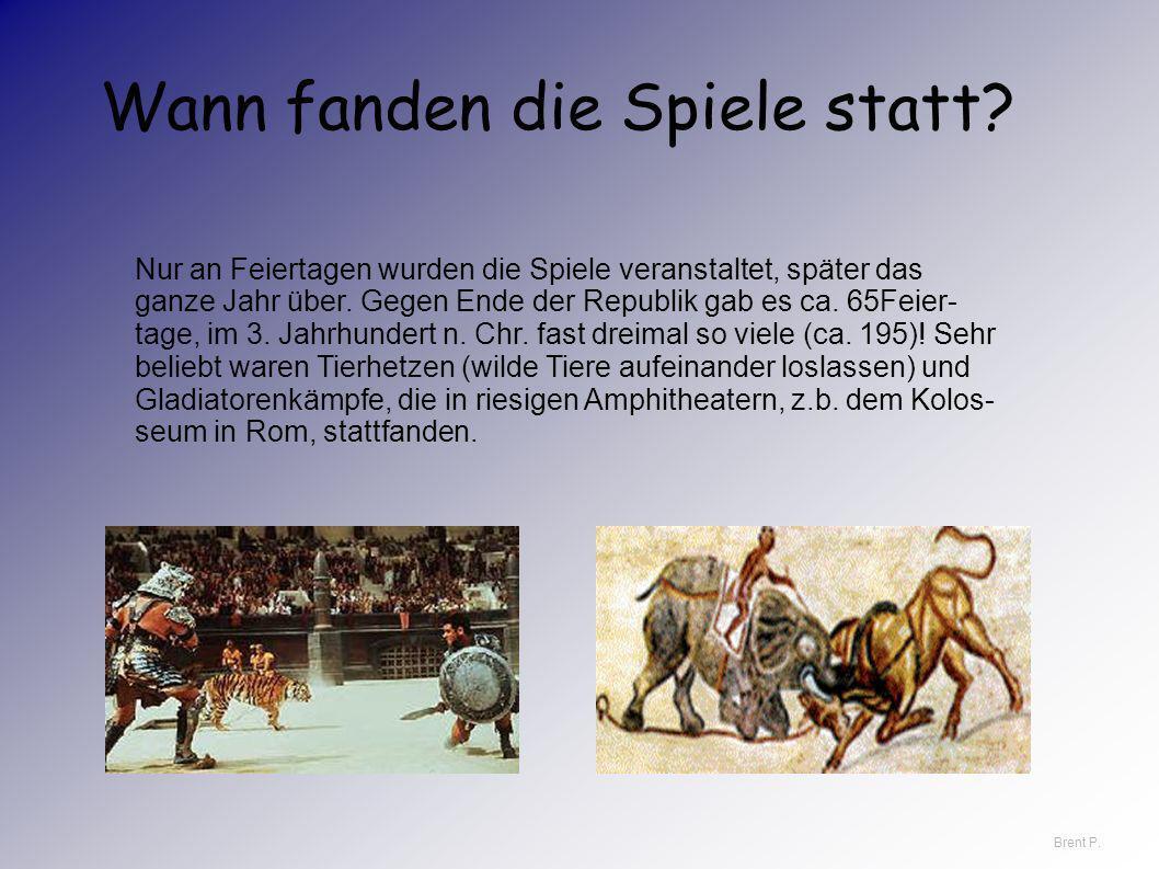 Wagenrennen und Gladiatorenkämpfe hat es im Römischen Reich seit dem 4. oder 3. Jahrhundert v. Chr. gegeben. Am Anfang dienten sie dazu,die Götter zu