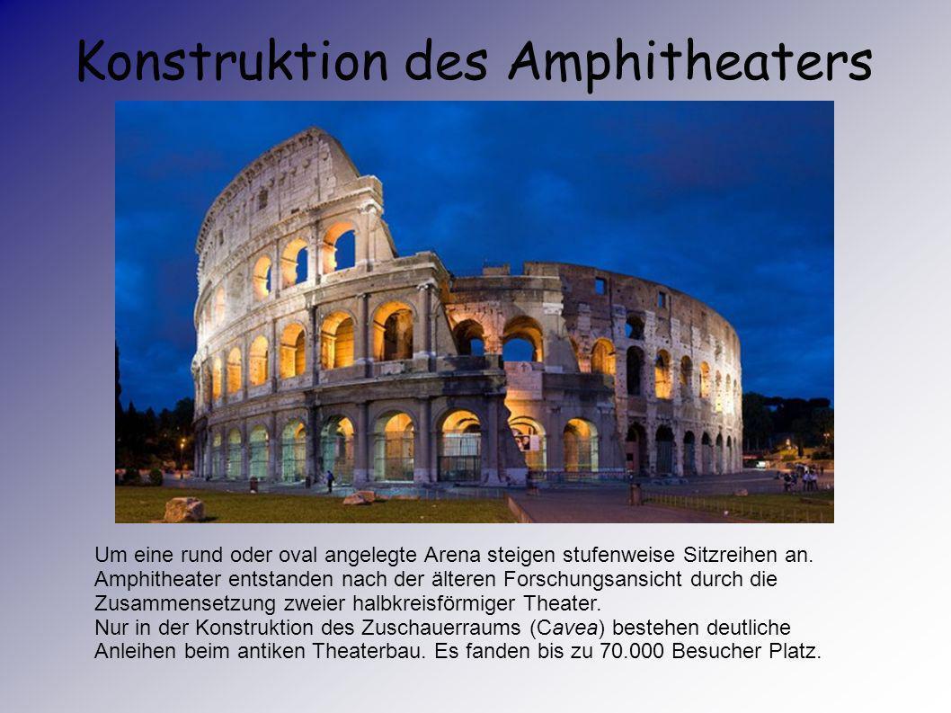 Die Gladiatorspiele waren unglaublich beliebt. Mindestens 400 Jahre lang wurden Gladiatorspiele im römischen Amphitheater veranstaltet, wo es hauptsäc