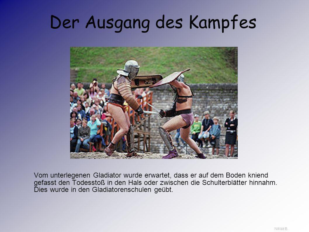 Kampf und Tod in der Arena In der Arena starben weniger Gladiatoren als bisher angenommen – wahrscheinlich starb einer von acht. Ein unterlegener Glad