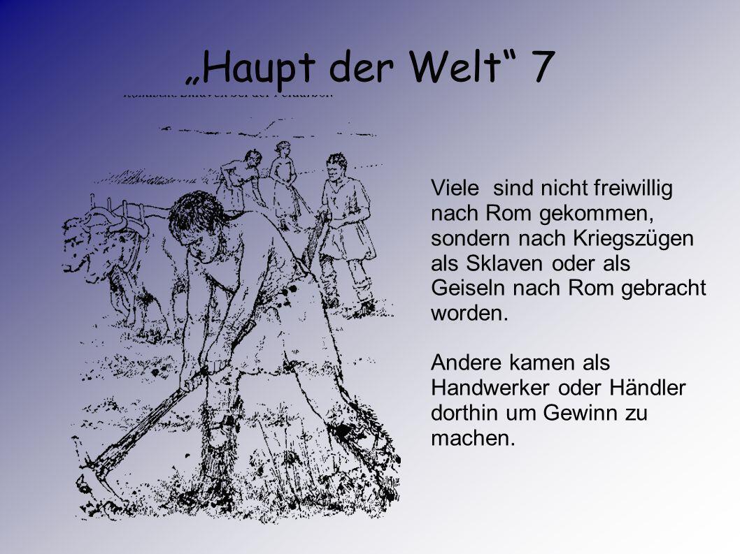 Haupt der Welt 6 Hier lebten Angehörige ganz unterschiedlicher Völker und Kulturen, Menschen aus allen Provinzen des Reichs.