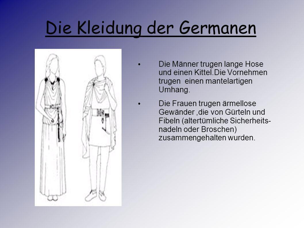 Die alten Germanen Die Bauern züchteten Rinder, Schafe,Schweine, Ziegen, Pferde und Geflügel.Ihnen war auch schon die Bienenzucht und die Zubereitung