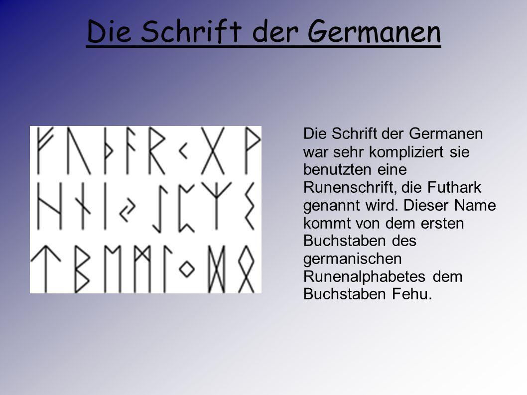 Das Leben der Germanen Mit der antiken, städtisch geprägten, klimatisch angenehmeren Mittelmeerwelt gingen diese Vorstellungen aus. Dann konnten sich