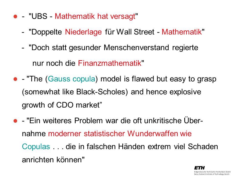 26. April 2005 Prof. Paul Embrechts / D-MATH / embrechts@math.ethz.ch 27 -