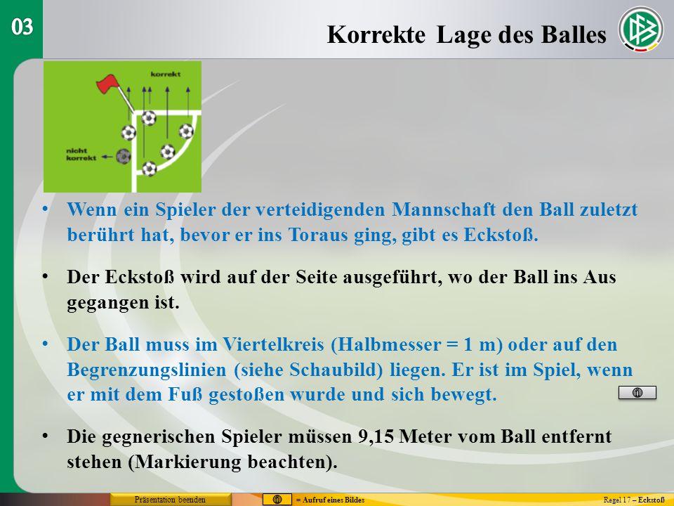 Wenn der ausführende Spieler den Ball zweimal spielt, ohne dass ein anderer Spieler den Ball berührt, gibt es indirekten Freistoß.