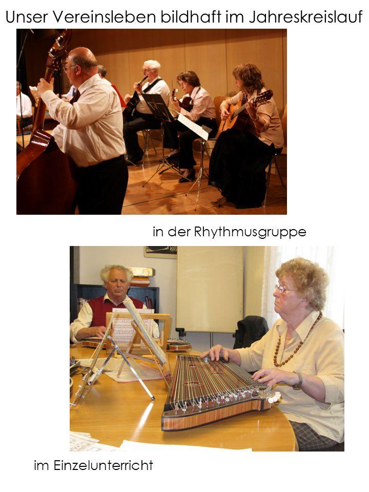 Unser Vereinsleben bildhaft im Jahreskreislauf in der Rhythmusgruppe im Einzelunterricht