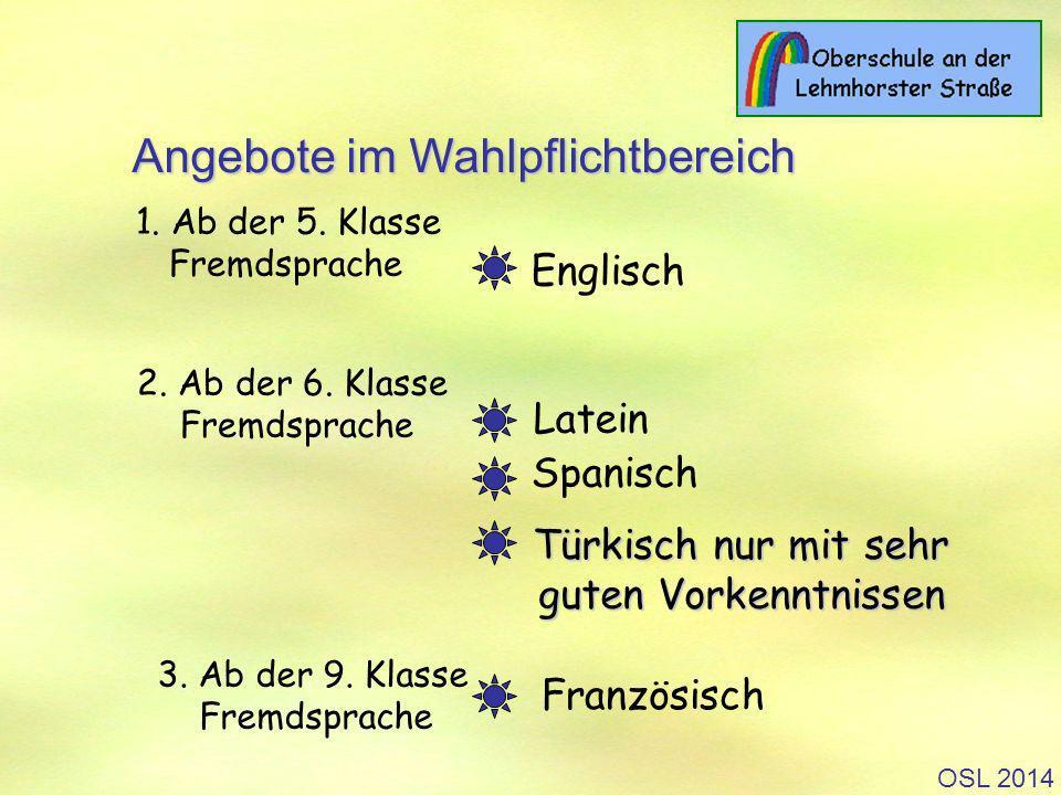 OSL 2014 1.Ab der 5. Klasse Fremdsprache 2. Ab der 6.