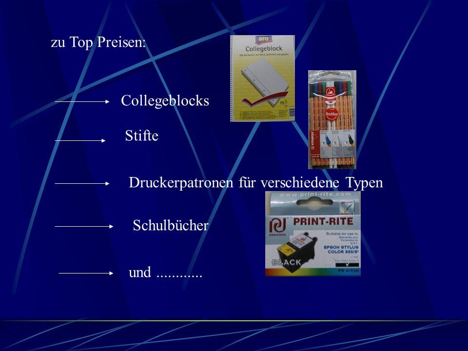 zu Top Preisen: Collegeblocks Stifte Druckerpatronen für verschiedene Typen Schulbücher und............