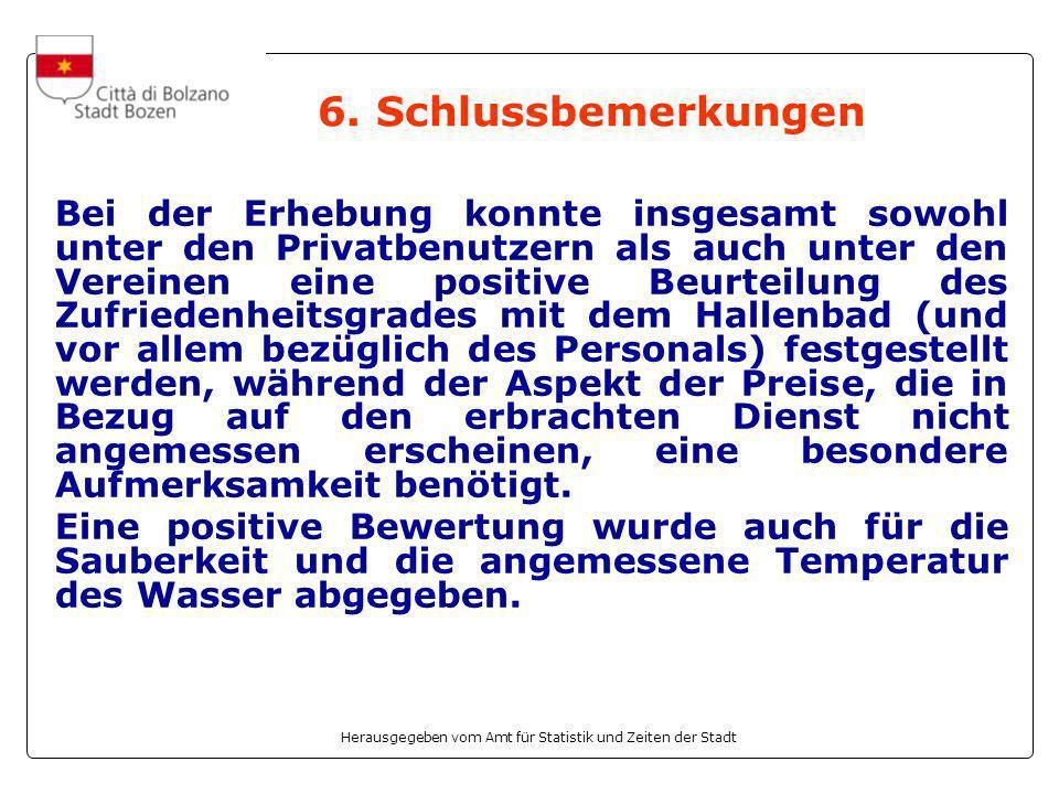 Herausgegeben vom Amt für Statistik und Zeiten der Stadt 6.
