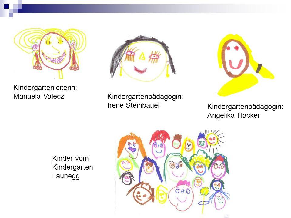 Kindergartenleiterin: Manuela Valecz Kindergartenpädagogin: Irene Steinbauer Kinder vom Kindergarten Launegg Kindergartenpädagogin: Angelika Hacker